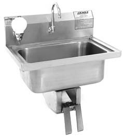 Single base sink with pedals